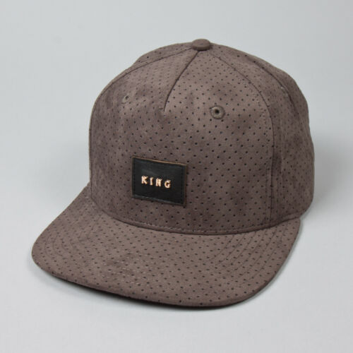 Charcoal Grey Suede St King Apparel Aesthetic Pinch Panel Snapback Cap OS