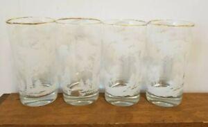 Set-of-4-034-The-Sportsman-034-Deer-Glass-Tumbler-Highball-Vintage-Glassware-Deer