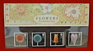 ROYAL-MAIL-STAMPS-PRESENTATION-SET-OF-FOUR-FLOWERS-No-178-JANUARY-1987