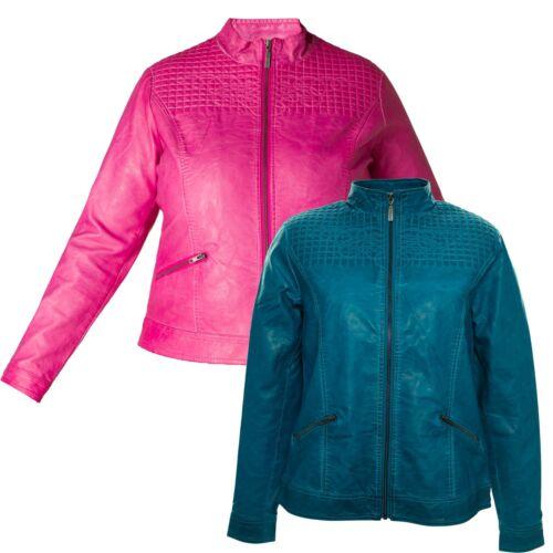 X Leatherette Two Halexa Jacket en cuir Vitage Veste Lagenlook Plus Size HOqwEIx