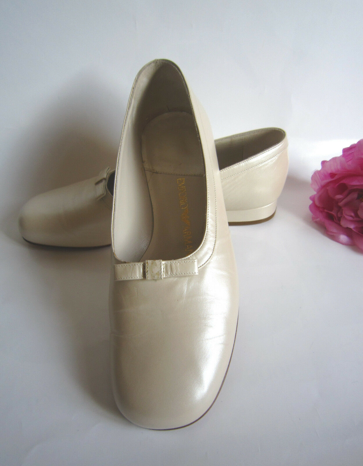 Emporio Armani designer leather shoes, size 37,5(5UK). 100% authentic.