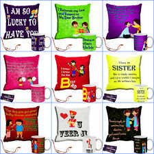 meSleep Sister Gift Cushion Cover and Mug Combo 16 X16