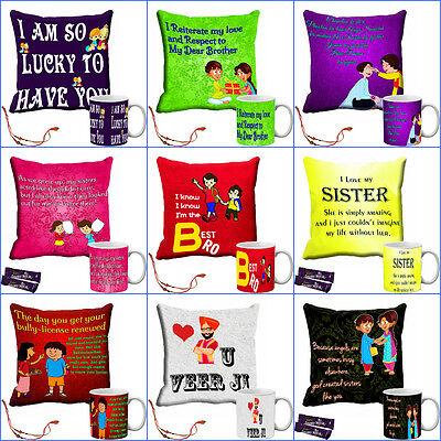 meSleep Sister Gift Cushion Cover and Mug Combo 16 X16
