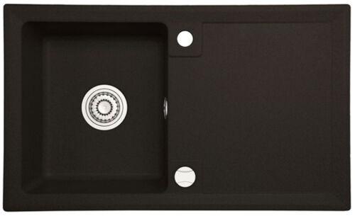 Drehexcenter AX3 45er Schwarz Beige 75x45 Granitspüle Küchenspüle Einbauspüle