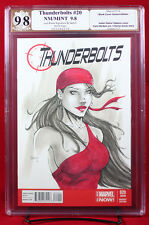 Thunderbolts (Marvel 2013) PGX (not CGC) 9.8 NM/MT Sketch Cover by LUIS BRAVO!!!