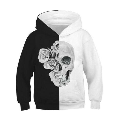 Kids Girl Boy 3D Print Hoodie Sweatshirt Pullover Hooded Jumper Coat Casual Tops