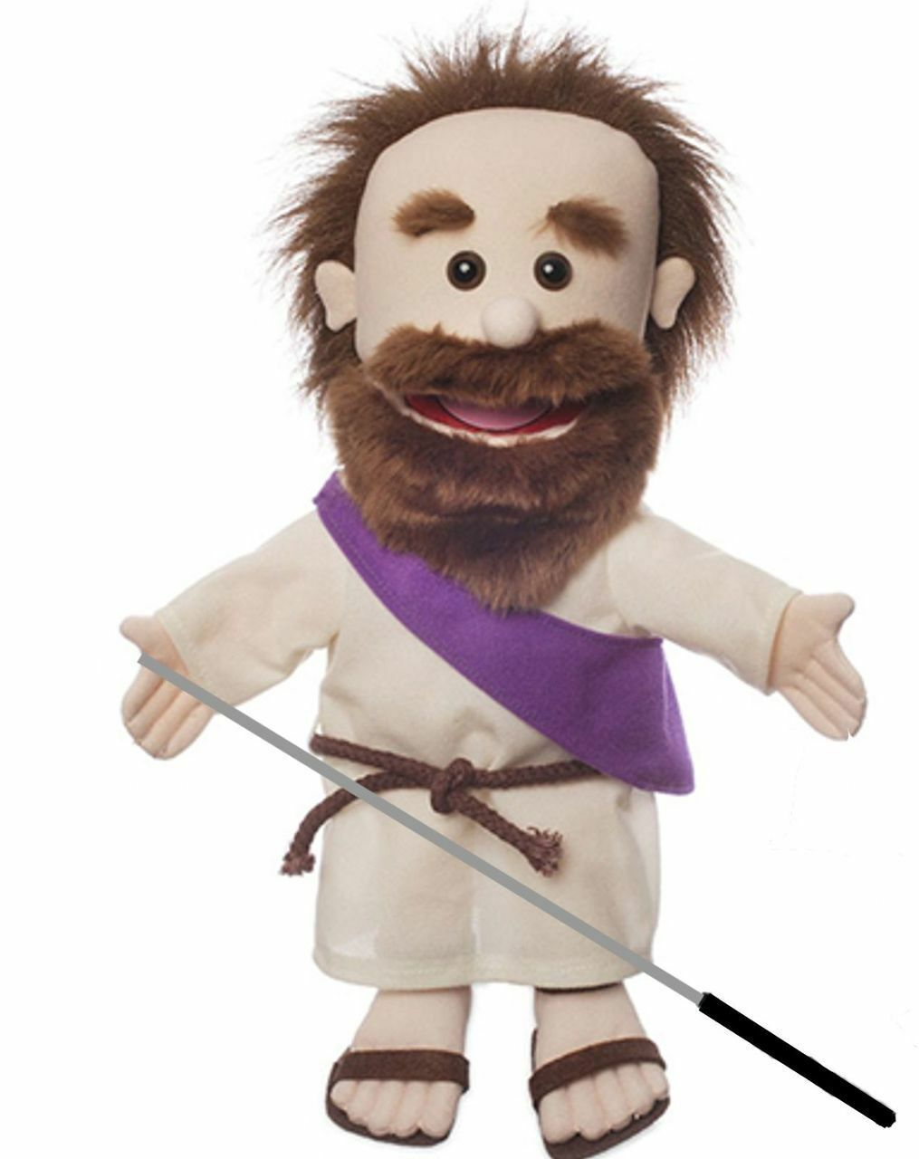 Silly Puppets Jesus(Biblical) Glove Puppet Arm Bundle 14 inch with Arm Puppet Rod 6f42e7