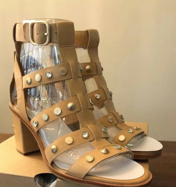 54459fee561 UGG Australia Macayla Studded Bling Latte Gladiator Sandals 1019999 Woman 9