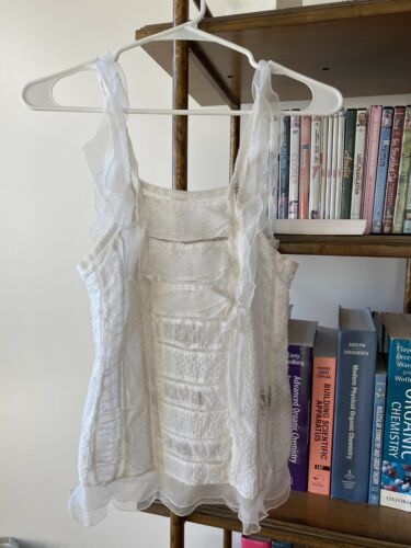 Isabel Marant Lace Tank Top, White, Size FR 36