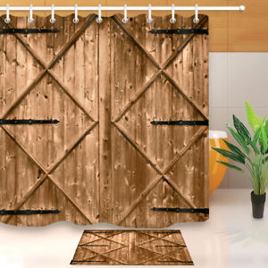 Image Is Loading 71 034 Shower Curtain Rustic Nail Wood Barn