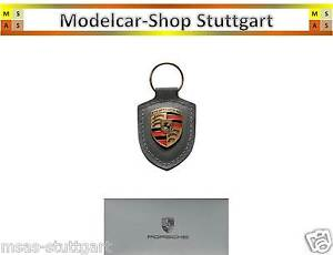 Made in Germany Porsche KEYRING CREST RED Real Leather