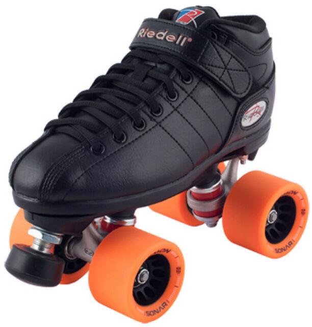 Roller Skates For Sale Ebay >> New Riedell R3 Demon Edm Quad Roller Derby Speed Skates Black W Orange Edm
