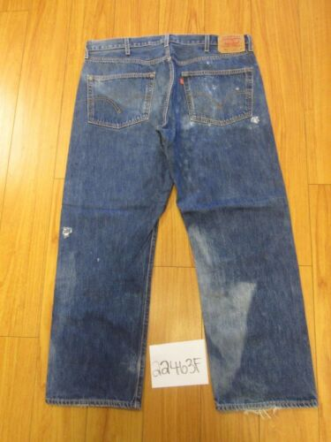 Grunge Meas 40x30 Tag 38x29 501 Jeans Levi's 5 Feather 22464f twqFwYZ