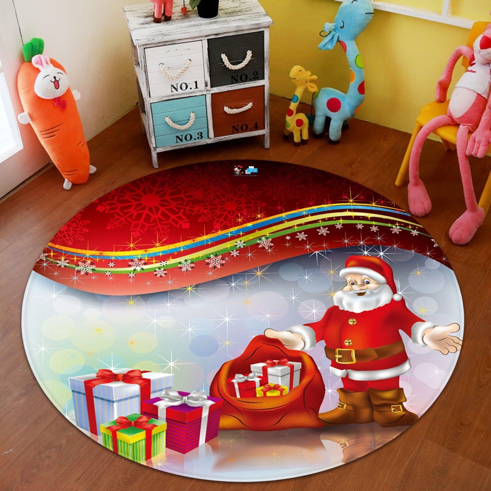 Tapis de tapis antidérapant 3D Christmas Xmas 513 Tapis de chambre rond élégant Photo Tapis AU