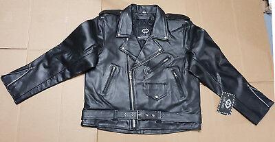 Mens Black Leather Marlon Brando Biker Motorcycle Jackets