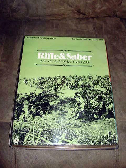 SPI 1973 - RIFLE &  SABER gioco -Tactical Infantry Combat 1850-1900 (UNPUNCHED)  forma unica