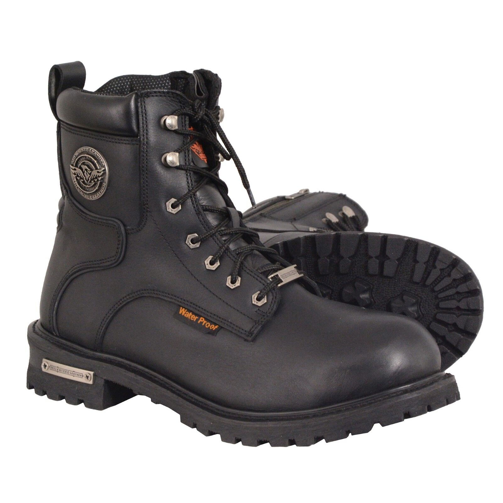 Milwaukee Leather Men's Waterproof Logger Boot w  Lace To Toe Design  MBM9096WP