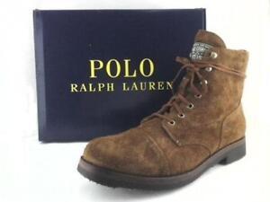 8d23c2e496496 Polo Ralph Lauren Enville Suede Cap-Toe Boot Dark Khaki Leather US ...