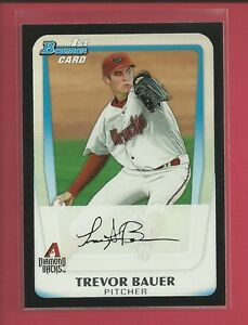Trevor-Bauer-RC-2011-1st-Bowman-Draft-Picks-Rookie-Card-BDPP9-Indians-Baseball