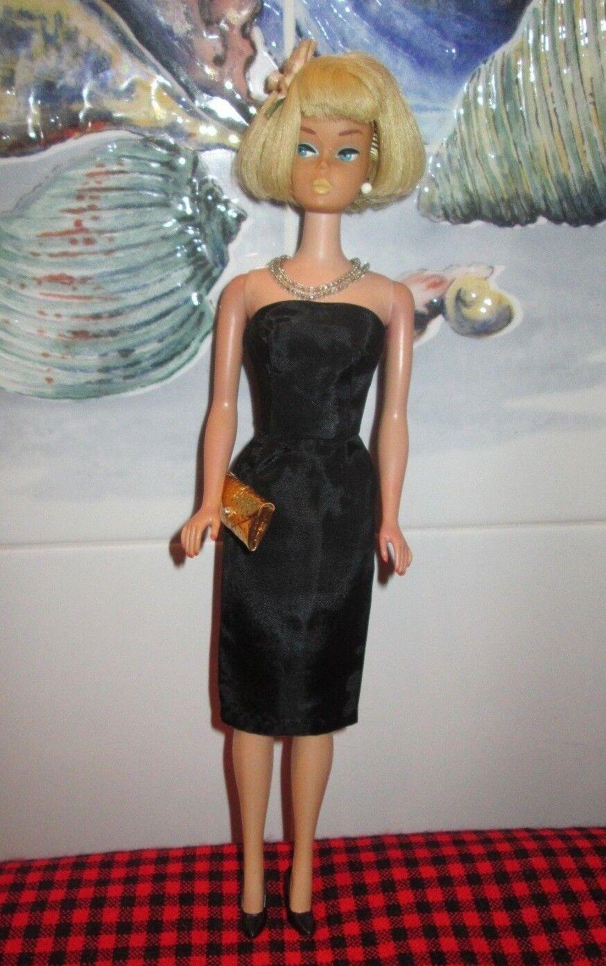 1965 JAPAN AMERICAN GIRLORIGINAL NR.MINT PLATINUM BARBIE1070schwarz SILK OUTFIT