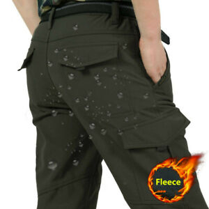 Mens-Winter-Warm-Thick-Tactical-Fleece-Lined-Pants-Thermal-Combat-Pants-Trousers