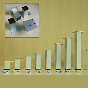 4 Aluminum Metal Table Leg Square Furniture Feet Stand Cabinet Base