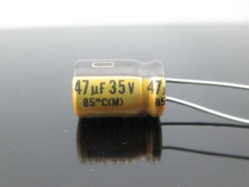 JAPAN 4PCS Nichicon MUSE FG Fine Gold 47Uf  35V 47mfd Audio Capacitor