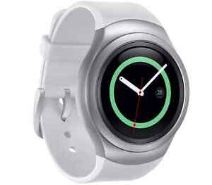 Samsung-Gear-S2-SM-R730A-AT-amp-T-Unlocked-Dark-Gray-and-White-Smartwatch