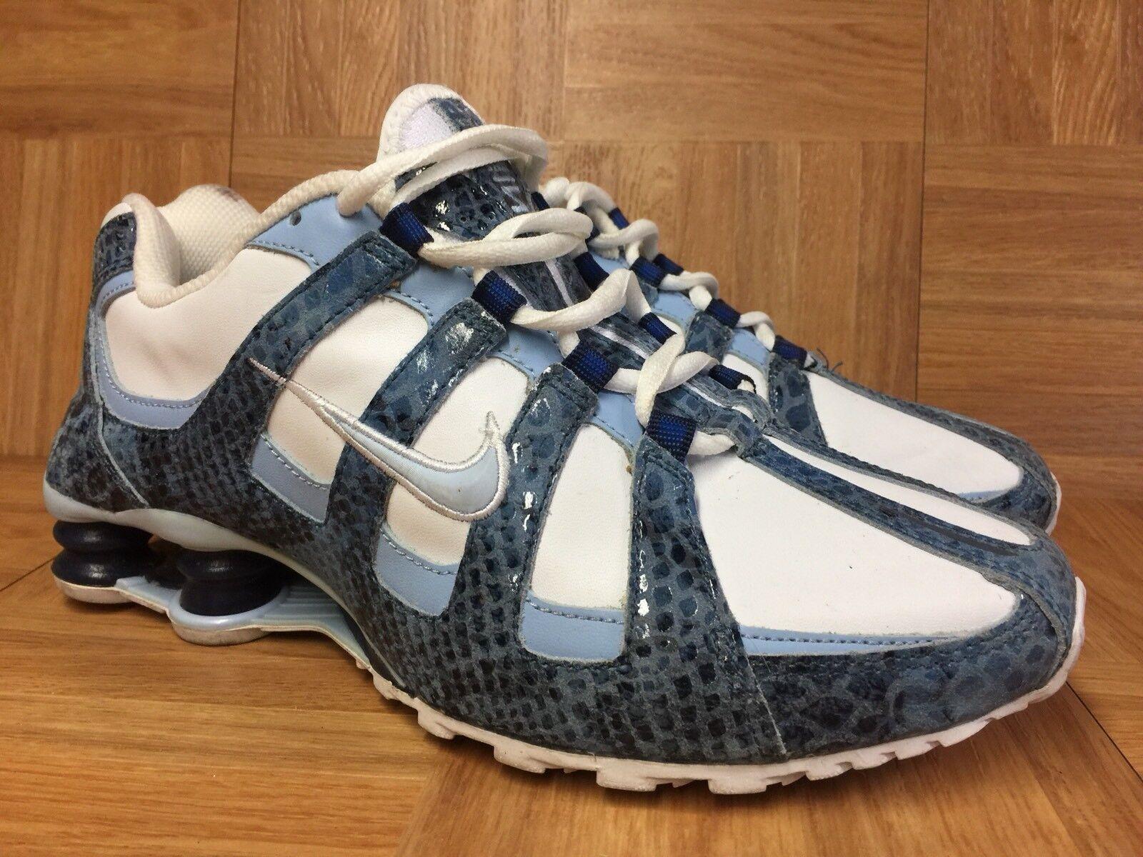 RARE� Nike SHOX Turbo Snakeskin University Ice Blue Carolina Sz 9 311079-141 LE