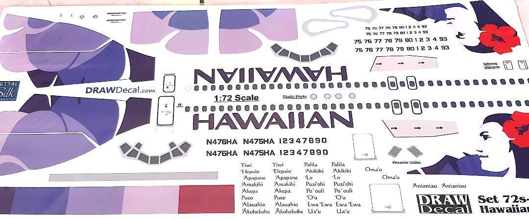 BOEING 717 - 1 72 - Resin Kit - Hawaiian