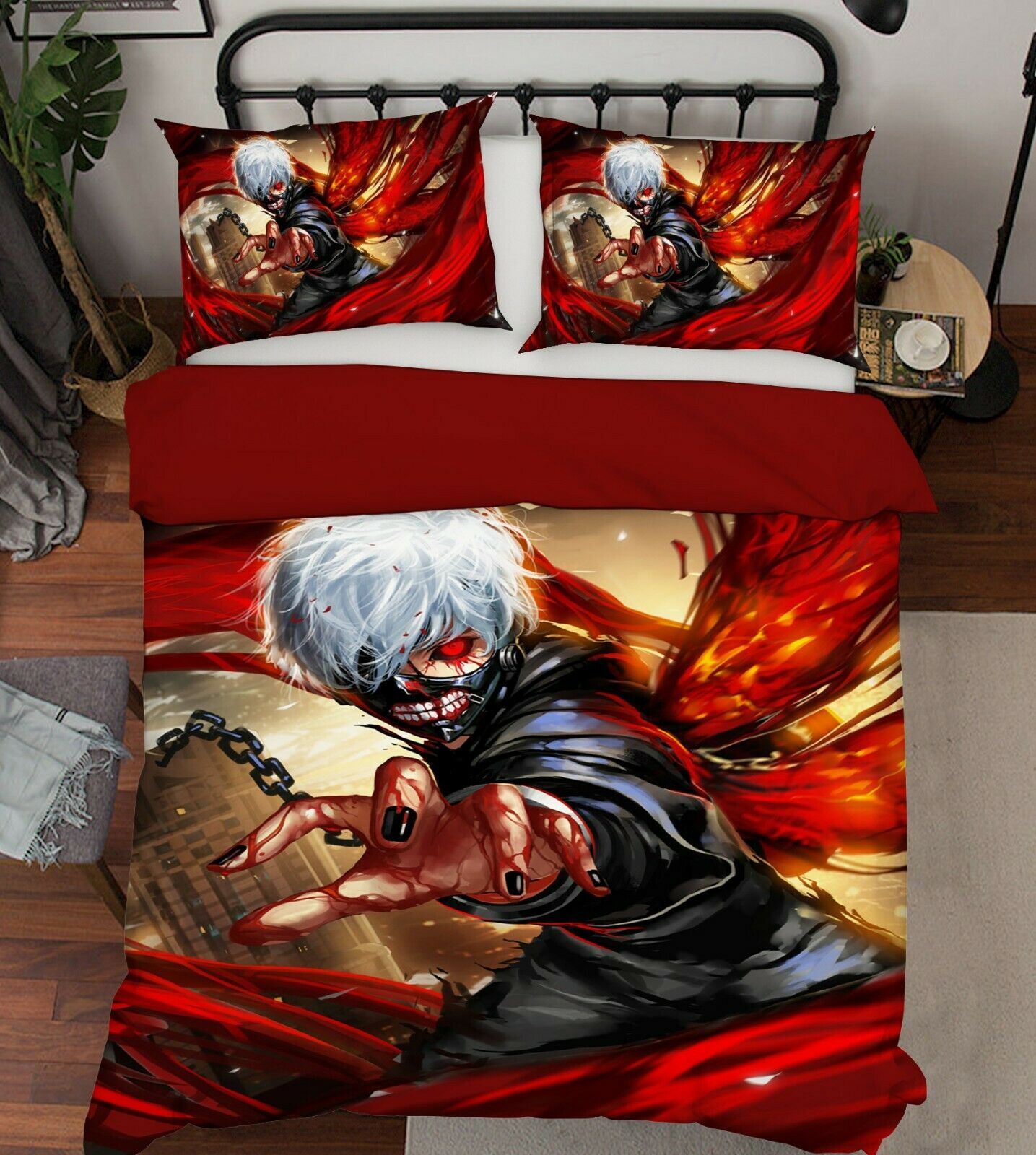 3D Tokyo Ghoul 376 Bed Pillowcases Quilt Duvet Cover Set Single Queen King