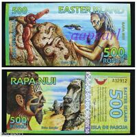 Easter island 500 Rongos Paper Money UNC Banknotes Uncirculated brand new 1pcs