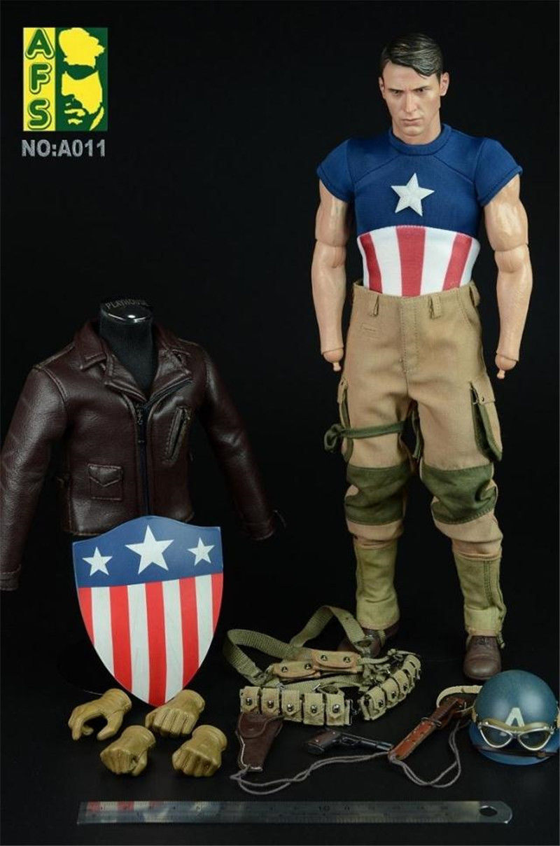 HOT FIGURE TOYS AFS A011 1/6 Captain America WWII Version Suit