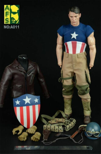 HOT 1/6  AFS A011 Captain America WWII Version suit FIGURE TOYS