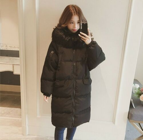 Women Winter Long Jacket Hooded Autumn Coat Outerwear Zipper Closure with Pocket