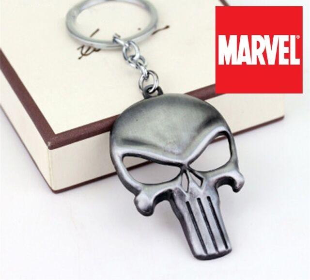 The Punisher Keychains Superhero Key Chain Silver Keyring Pendant Key Rings
