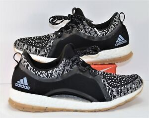 24edcaa854948 Adidas Pure Boost X All Terrain Black White Oreo Running Shoes Sz 10 ...