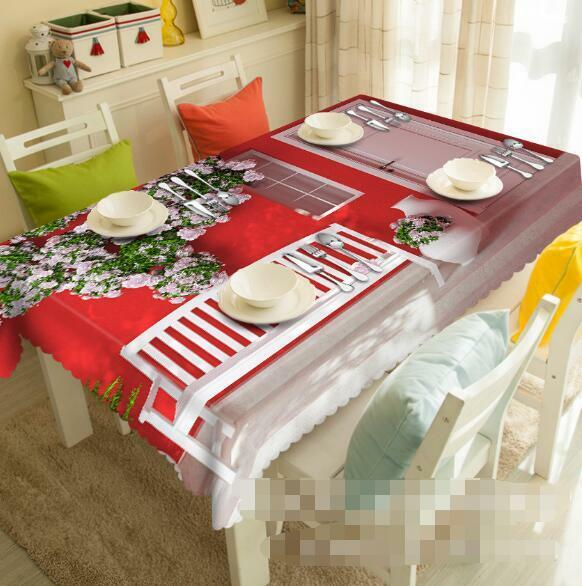 3D House 838 Tablecloth Table Cover Cloth Birthday Party Event AJ WALLPAPER AU