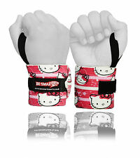 Weight Lifting Wrist Wraps Bandage Hand Support Brace Gym Straps Kitty Cotton