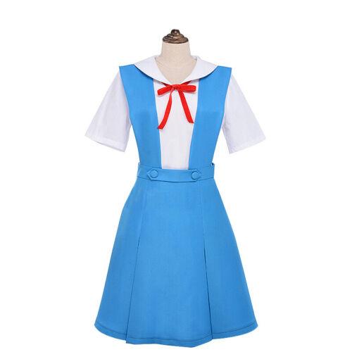 NEON GENESIS EVANGELION EVA Ayanami Rei Asuka Schuluniform Cosplay Kostüm