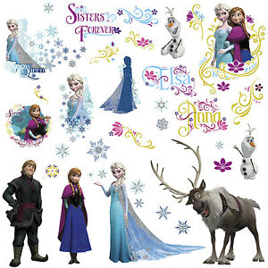 Image Is Loading DISNEY FROZEN Movie Wall Decals OLAF ELSA ANNA