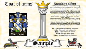 Stojanowic-Stojanowic COAT OF ARMS HERALDRY BLAZONRY PRINT
