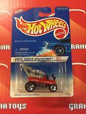 Radio Flyer Wagon #374 Unpainted Malaysia Base  1996 Hot Wheels First Editions
