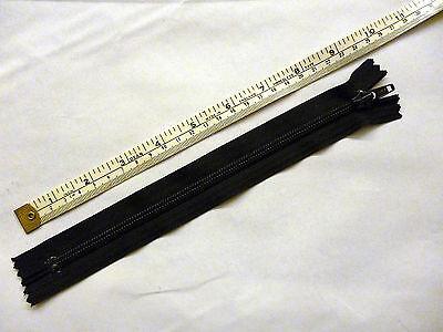 "Zip, Zipper, Medium Weight 5,Closed End, Nylon,YKK, Black 3,4,5,6,7,8,9,12"", Two"