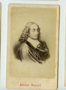 Vintage-CDV-Blaise-Pascal-French-mathematician-by-E-Neurdein