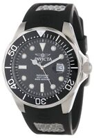 Invicta Men's Pro Diver 200m Analog Quartz Black Polyurethane Watch 12558