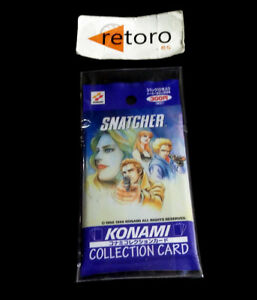 SNATCHER-COLLECTION-CARD-Sega-Saturn-Pak-Unopened-Trading-Card-NEW