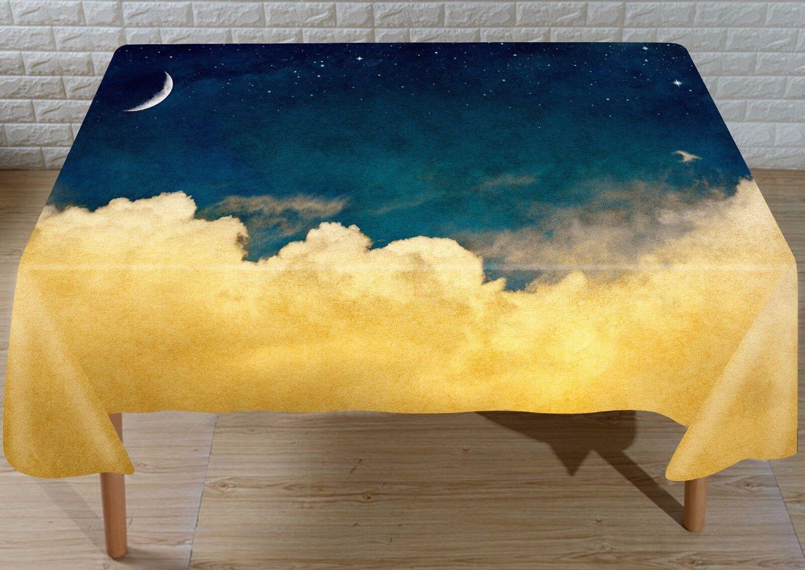 3D Luna nubes Mantel Mantel Paño Cumpleaños Fiesta AJ Wallpaper Reino Unido Limón