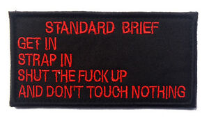 standard-brief-ARMY-MORALE-BADGE-TACTICAL-MILITARY-HOOK-amp-LOOP-PATCH-sh-706