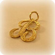 """VINTAGE Fancy iniziale """"B"""" gold charm"""